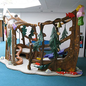 indoor wood play area