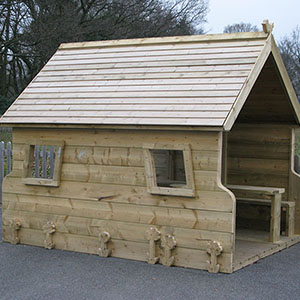 wooden carved bespoke playhouses